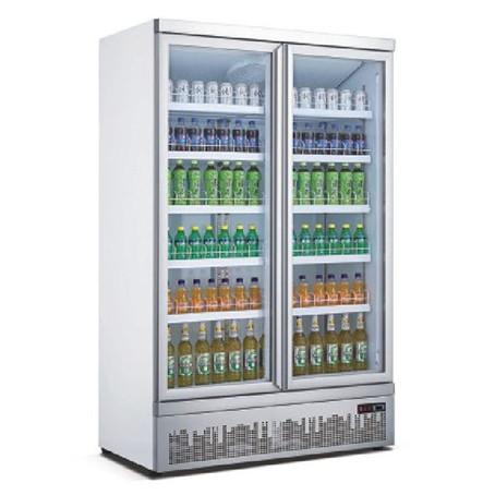 Mitchel Refrigeration 2 Door Glass Drinks Refrigerator Glass Door