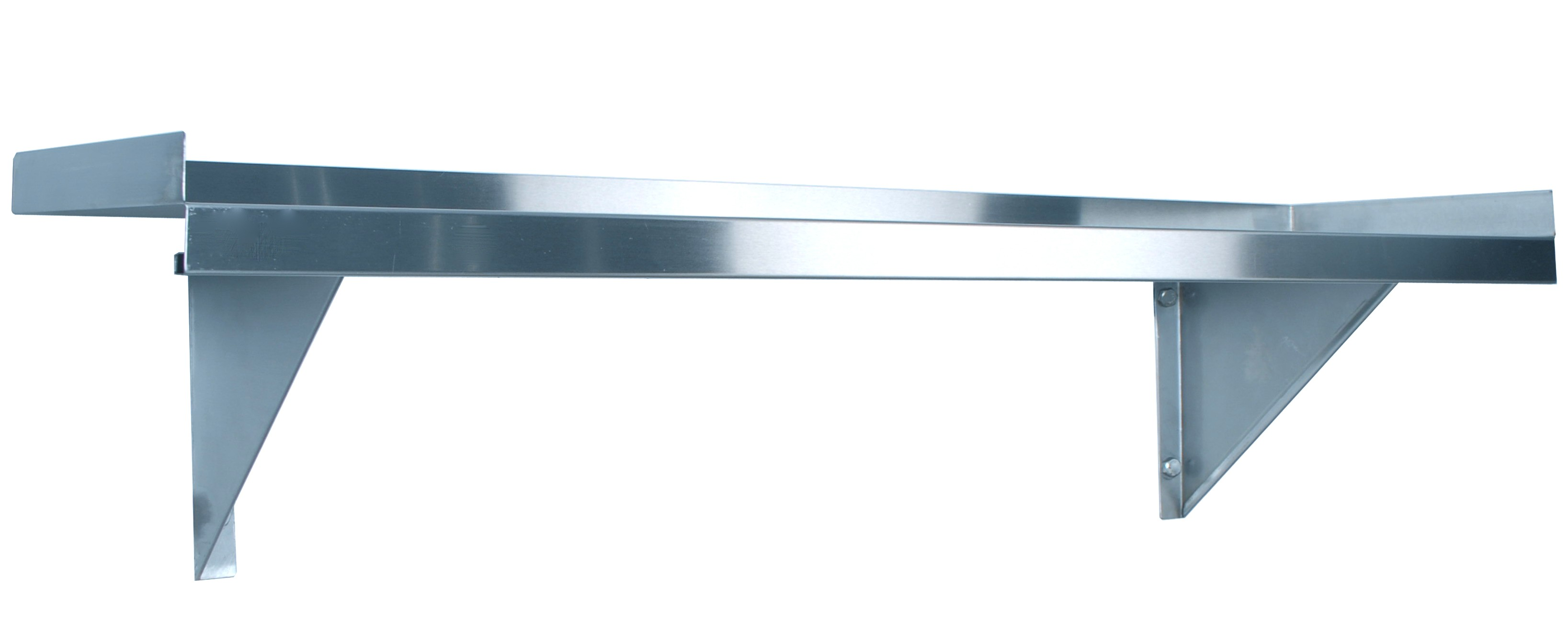 Kss 1200mm Solid Wall Shelf W Brackets Stainless Steel