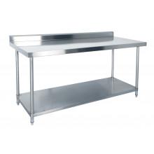 KSS 1500mm Bench w/ Shelf Underneath and Splashback - 760 Depth