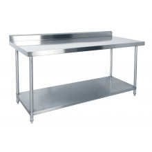 KSS 1800mm Bench w/ Shelf Underneath and Splashback - 760 Depth