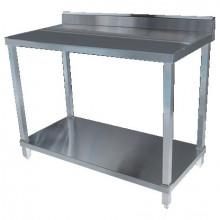 KSS 2400mm Bench w/ Shelf Underneath and Splashback - 600 Depth