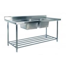 KSS 1500mm Double Sink w/ splashback and Adjustable Pot Rack