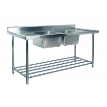 KSS 1800mm Double Sink w/ splashback and Adjustable Pot Rack