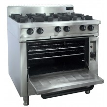 Oxford Series 6 Burner Cooktop w/ Gas Oven