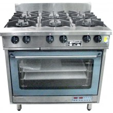 Oxford Series 6 Burner Cooktop w/ ROY-8A Electric Oven
