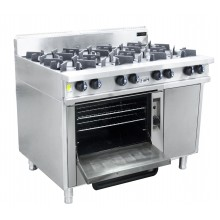 Oxford Series 8 Burner Cooktop w/ Gas Oven (on left hand side)