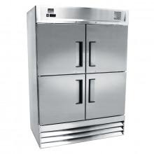 Mitchel Refrigeration Stainless Steel Four-Half Door Freezer