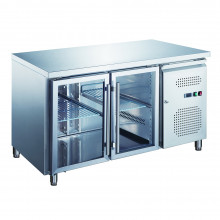 Two Door Under counter refrigerator with Glass Doors