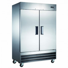 Mitchel Refrigeration Stainless Steel Two Door Refrigerator