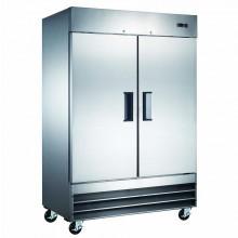 Mitchel Refrigeration Stainless Steel Two Door Freezer