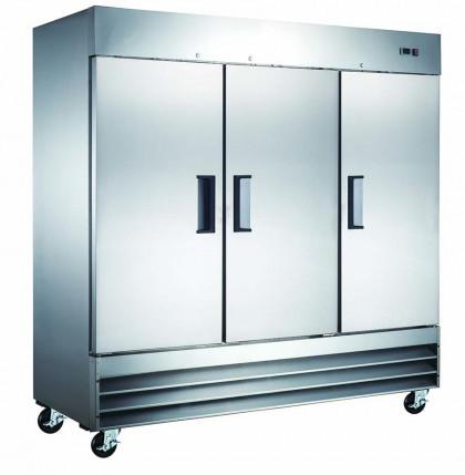 Mitchel Refrigeration Stainless Steel Six-Half Door Refrigerator